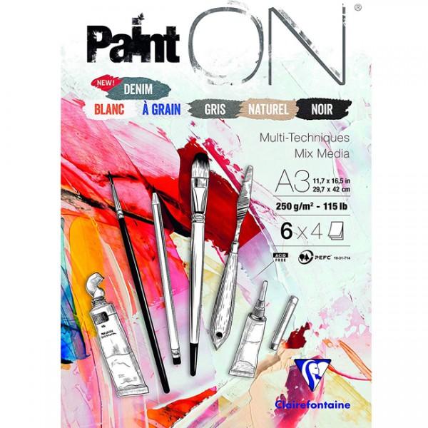 Paint-On A3 6x4 vel mix papier 250gr Clairefontaine