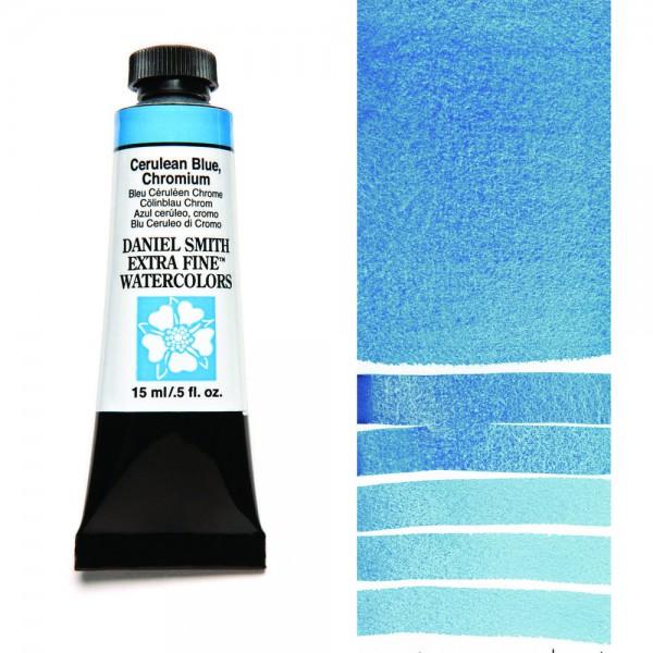Cerulean Blue, Chromium Serie 2 Watercolor 15 ml. Daniel Smith Aquarelverf