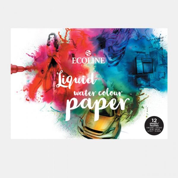 Ecoline Liquid Water Colour Papier A3 blok 12 vel