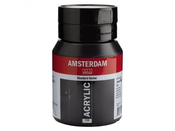 Amsterdam Acryl 500ml 735 Oxydzwart