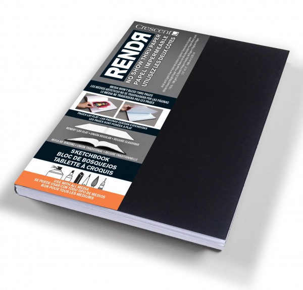 Zachtekaft - A6 Schetsboek Dummy - 9 x 14 cm Rendr Alcohol Marker