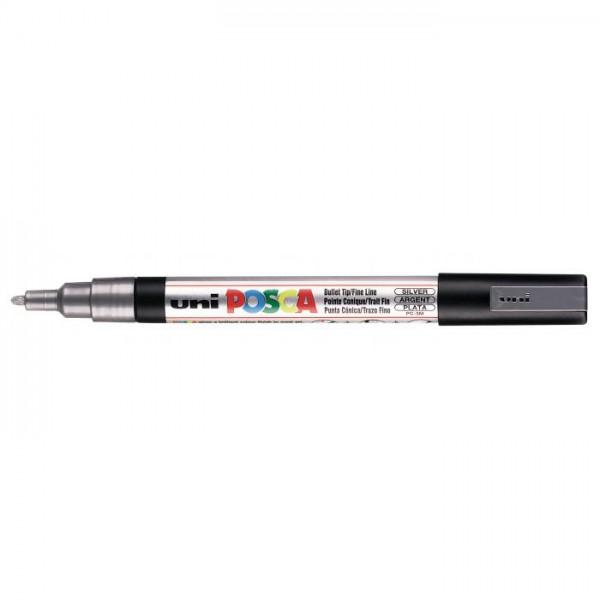 Posca verf stift PC3M Zilver Paint marker