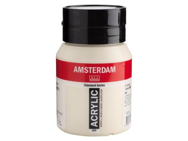 Amsterdam Acryl 500ml 289 Titaanbuff licht