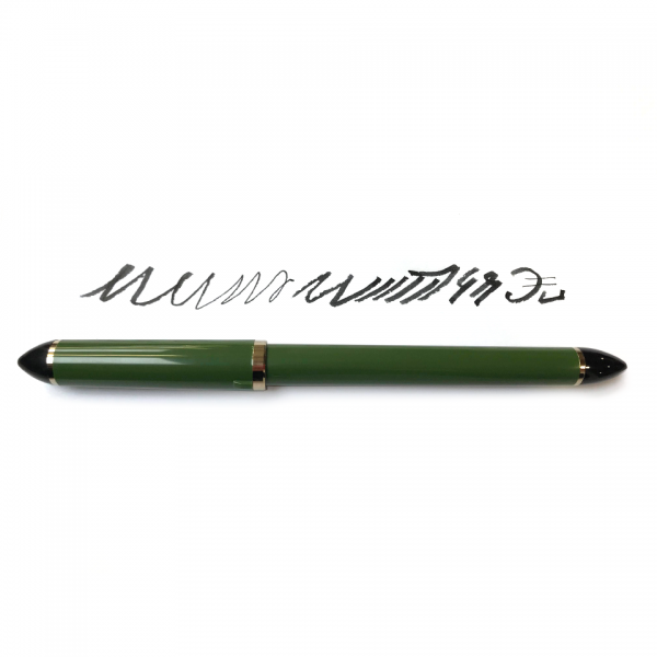 "Fude de Mannen ""Green"" 55° Vulpen hervulbaar Sailor Inkt Kroontjespen"