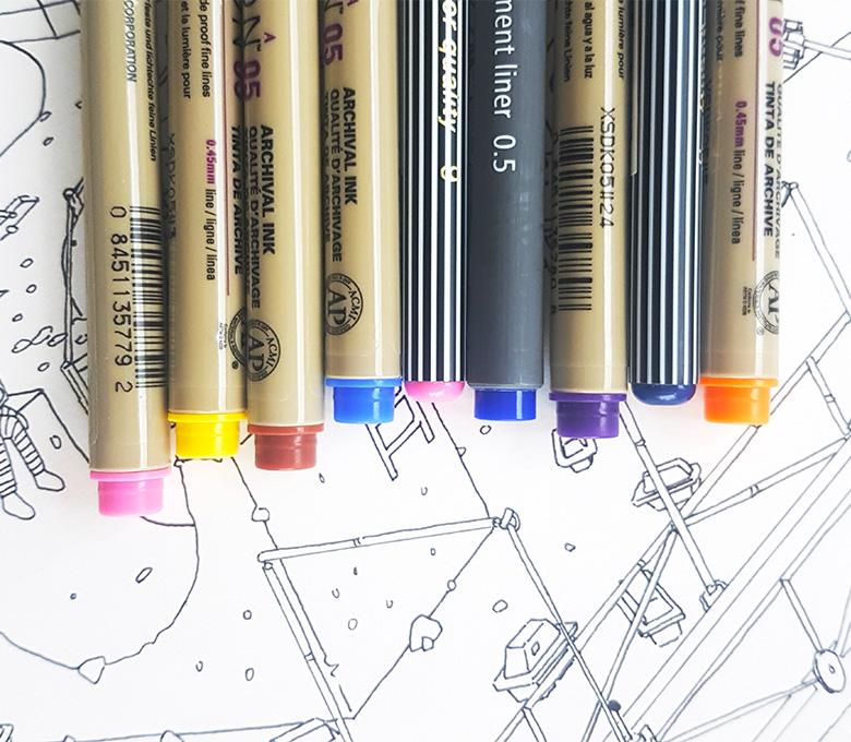 gekleurde-fineliners-kleur-micron-color-colour-voorbeeld-vergelijk