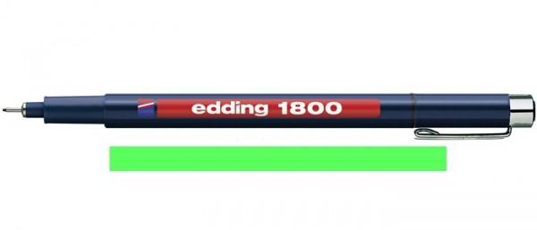 Edding 1800 Groen 05 (0,5 mm) Profipen Fineliner