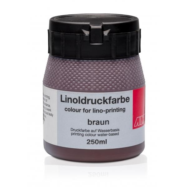 Ami Linodruk inkt Bruin 250ml op waterbasis