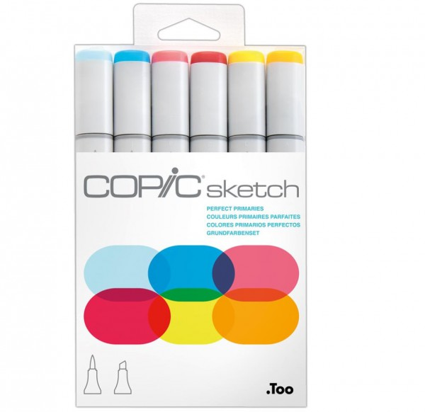Copic Sketch 6 set - Perfect Primaries Alcohol Marker