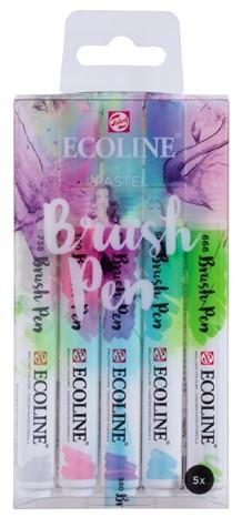 """Ecoline brushpen set 5 """"Pastel"""" Aquarelmarker"""