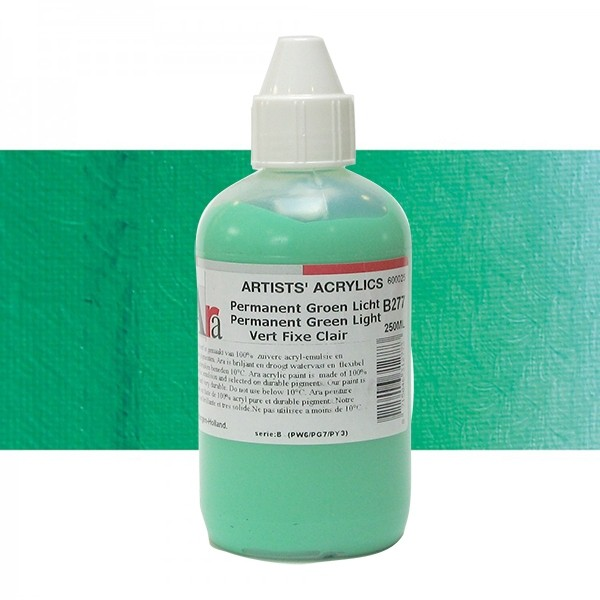 ARA Artists Acrylics 250ml B277 PERMANENT GROEN LICHT