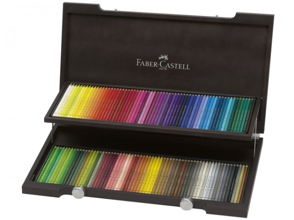 Faber Castell 120 Kleurpotloden Polychromos houten kist