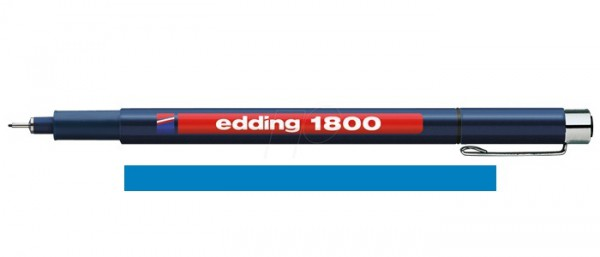 Edding 1800 Blauw 03 (0,35 mm) Profipen Fineliner