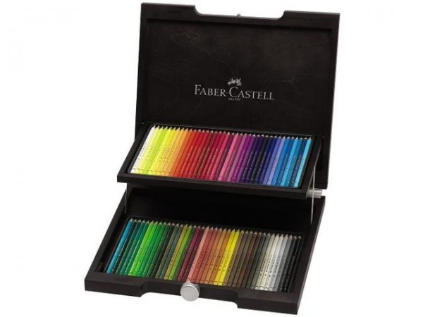 Faber Castell 72 Kleurpotloden Polychromos houten kist