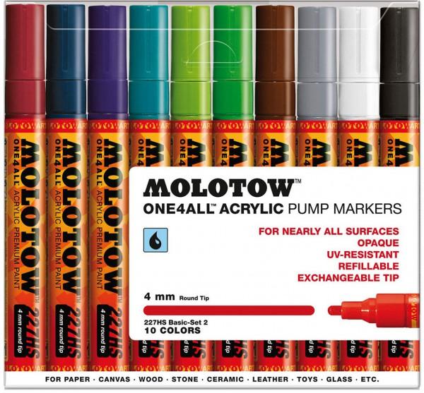 227HS Basic Set 2 - 4mm (x10) Molotow One4All Acryl Marker