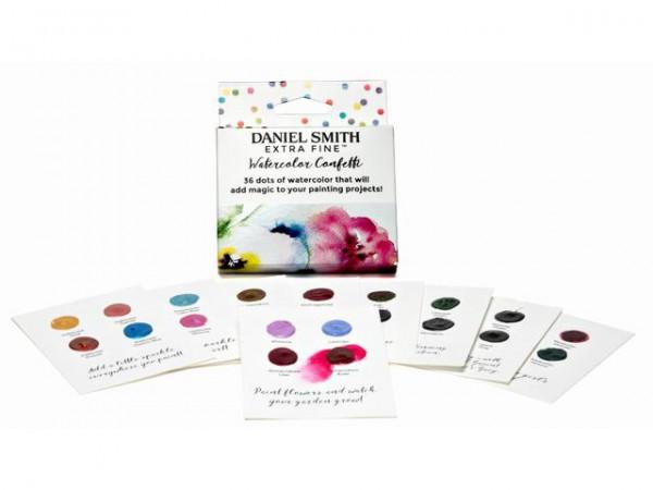 Watercolor Confetti 36 dots cards Daniel Smith Aquarelverf