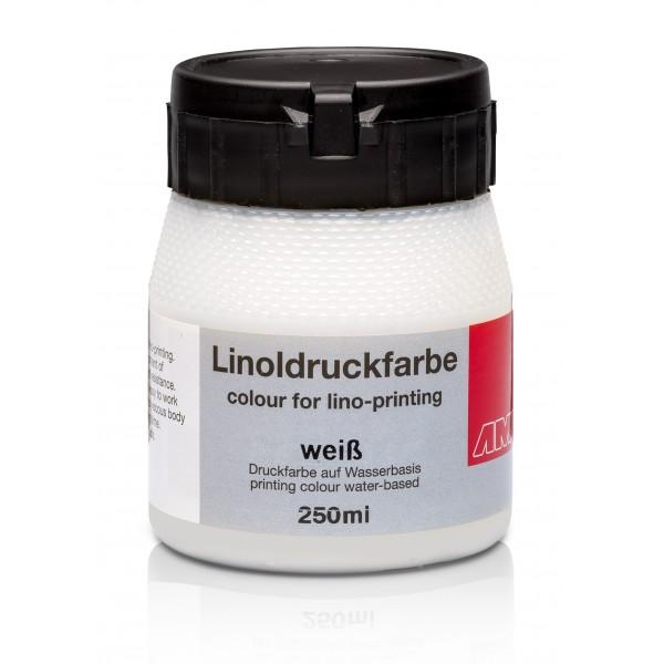 Ami Linodruk inkt Wit 250ml op waterbasis