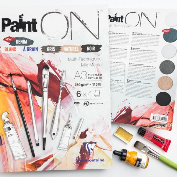 Paint-On A4 4x6 vel mix papier 250gr Clairefontaine