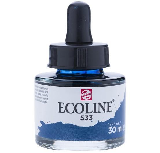 Talens ecoline inkt 30ml - 533 Indigo blauw