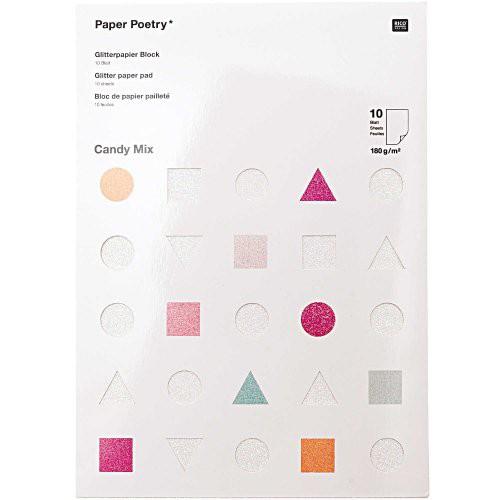 Rico Design Glitterpapier Blok Candy Mix
