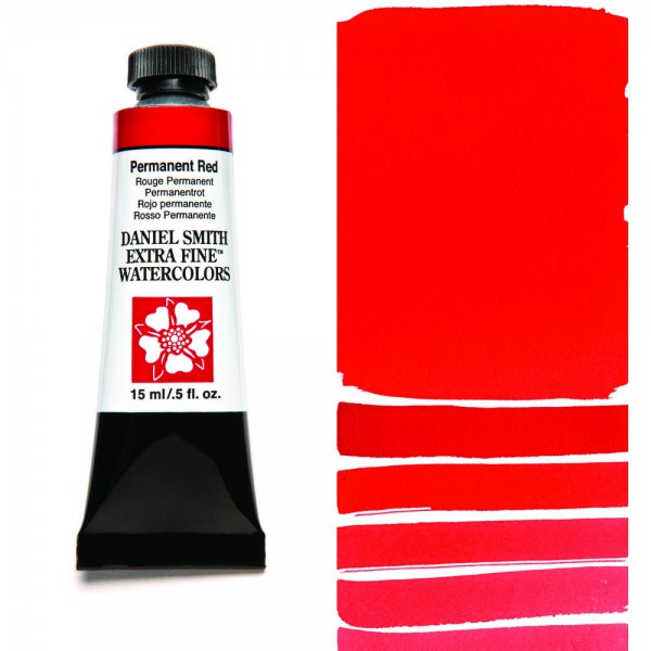 Permanent Red Serie 1 Watercolor 15 ml. Daniel Smith Aquarelverf