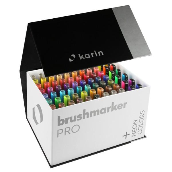 Brushmarker PRO Set Extended Box 72 colours + 3 blenders Karin Aquarelmarker
