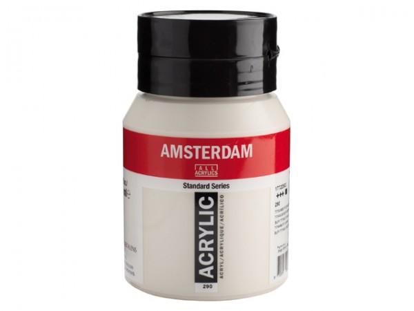 Amsterdam Acryl 500ml 290 Titaanbuff Donker