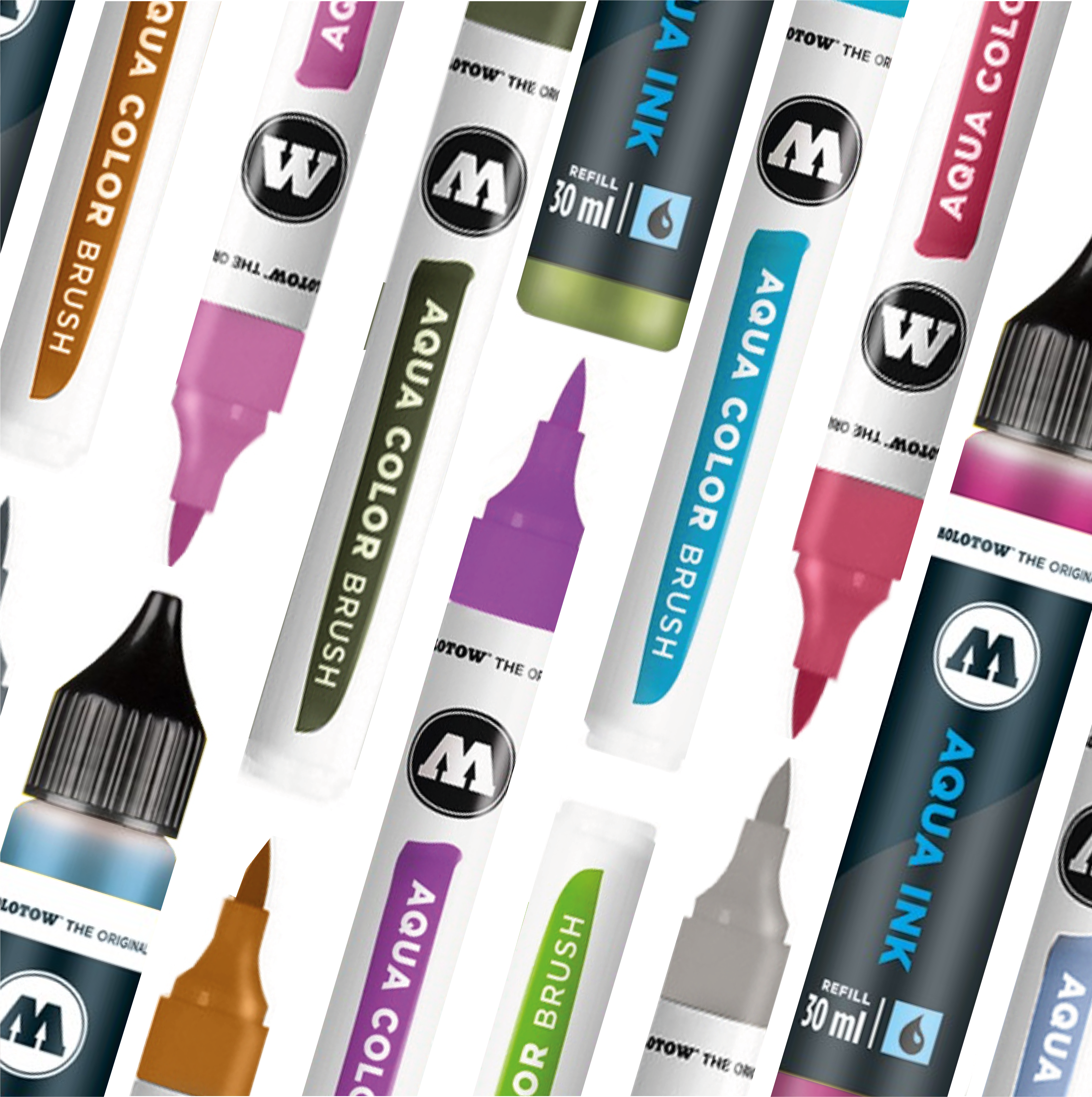 Molotow Aqua Color Brush en Inkt