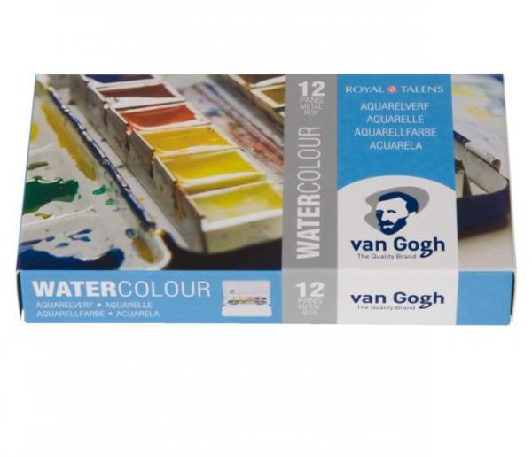 Van Gogh Waterverf set 12 napjes metalen blik Aquarelverf