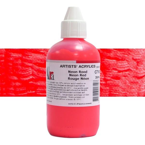 ARA Artists Acrylics 250ml C710 NEON ROOD