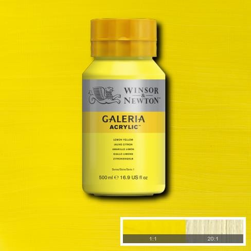 Galeria Acryl 500ml 346 S1 Lemon Yellow