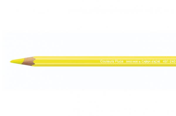 FLUO Geel Neon 491.240 Maxi Kleurpotlood Caran d'ache