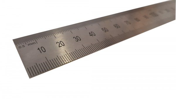RVS Liniaal 30 cm metalen snijliniaal (ook inches)