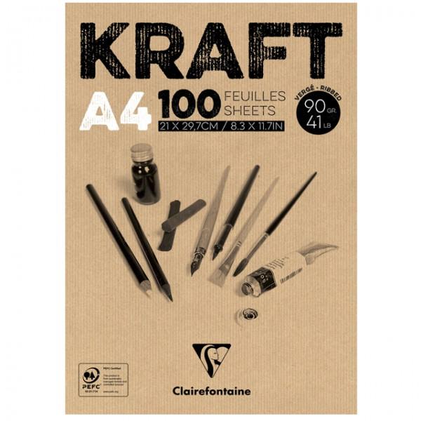 KRAFT bruin papier A4 100vel 90gr Clairefontaine
