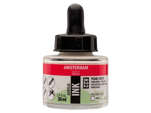 Pearl green 822 Amsterdam Acryl Inkt 30 ml. Inkt Kroontjespen