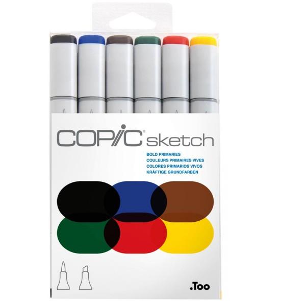 Copic Sketch 6 set - Bold Primaries Alcohol Marker
