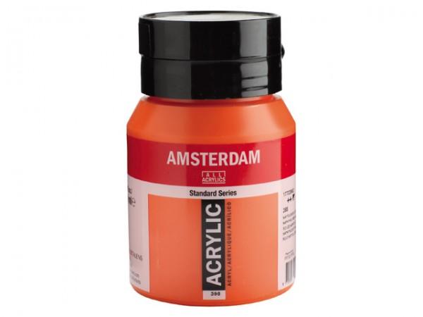 Amsterdam Acryl 500ml 398 Naftolrood Licht