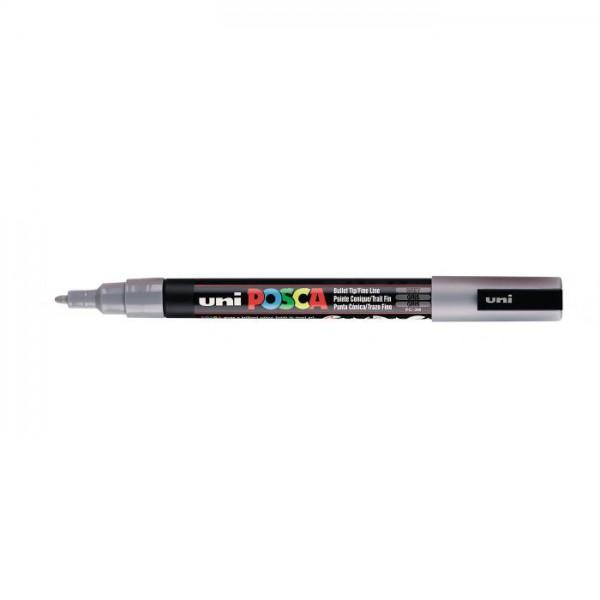 Posca verf stift PC3M Grijs Paint marker