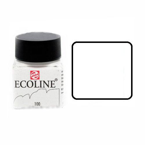 Talens ecoline inkt 30ml - 100 wit Inkt Kroontjespen