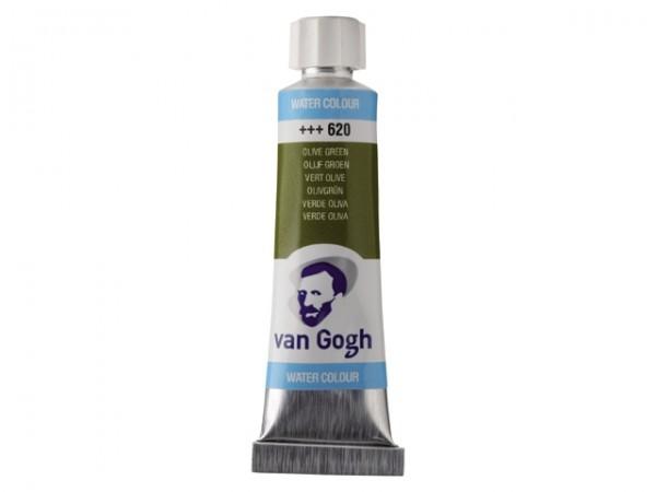 Olijf groen 620 tube 10 ml. Van Gogh Aquarelverf