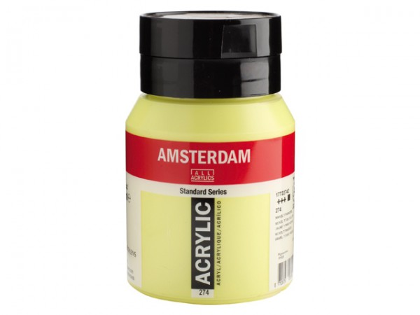 Amsterdam Acryl 500ml 274 Nikkeltitaan geel