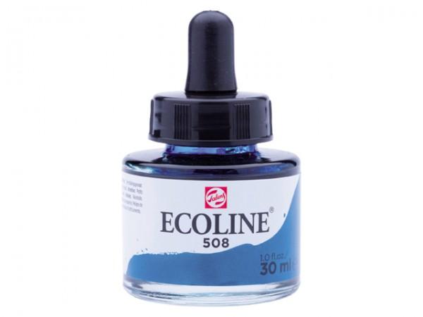 Talens ecoline inkt 30ml - 508 Pruisischblauw Inkt Kroontjespen