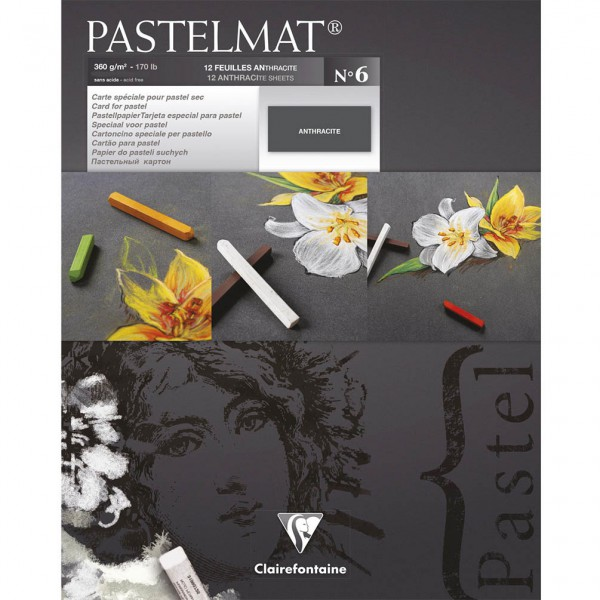 Pastelmat No. 6 (Antracite) 360gr 18x24 Clairefontaine