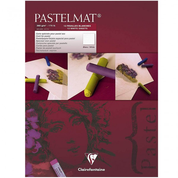 Pastelmat No. 3 (Wit) 360gr 18x24 Clairefontaine