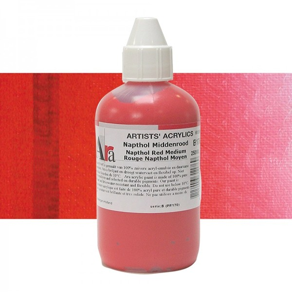 ARA Artists Acrylics 250ml B176 NAPTHOL MIDDENROOD