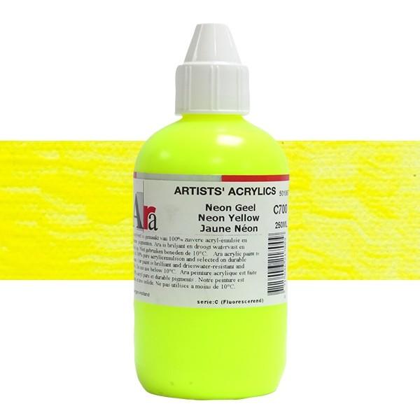 ARA Artists Acrylics 250ml C700 NEON GEEL