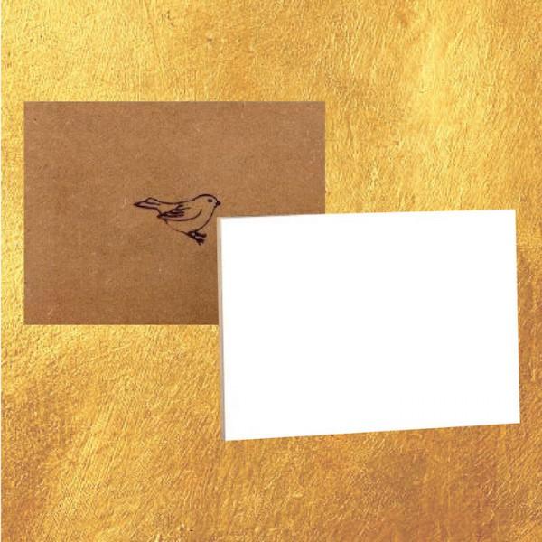 Mus Paneel 10x15 Golden Line (wit/glad)