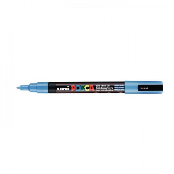 Posca verf stift PC3M Licht Blauw Paint marker