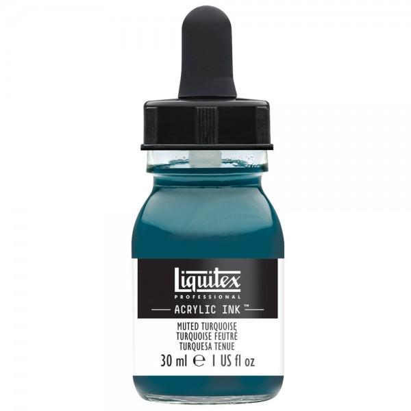 Liquitex Ink! 30ml Muted Turquoise Inkt Kroontjespen