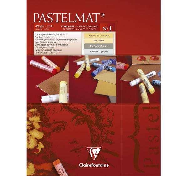 Pastelmat No. 1 (Creme/grijs) 360gr 30x40 Clairefontaine