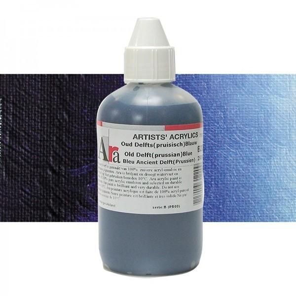 ARA Artists Acrylics 250ml B220 OUD DELFT PRUISISCH BLAUW